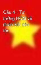 Câu 4 : Tư tưởng HCM về đoàn kết dân tộc by hoa2112
