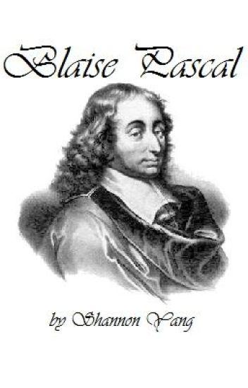 Blaise Pascal Shannon Yang Wattpad