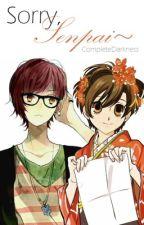 Sorry, Senpai~ (OHSHC HaruhiXOC, GirlXGirl) by CompleteDarkness
