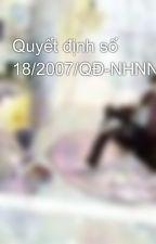 Quyết định số 18/2007/QĐ-NHNN by khangmieu