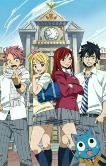 Highschool Love (Gray x Erza & Nastu x Lucy & Gajeel x Levy)