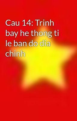 Cau 14: Trinh bay he thong ti le ban do dia chinh