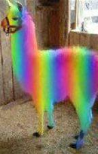 rainbow the wonder llama by thelibrarianslover