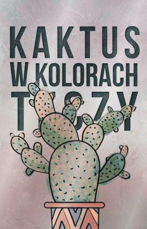 Kaktus w kolorach tęczy by polishkathel