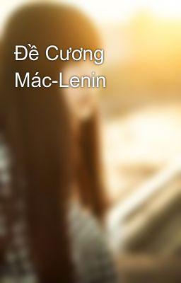 Đề Cương Mác-Lenin