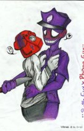 In love with a killer: purple guy x phone guy