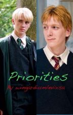 Priorities. {A Draco Malfoy and Fred Weasley love story} by wingardiumlevixsa