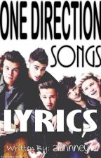 ONE DIRECTION SONGS LYRICS by annieyani