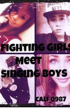 Fighting Girls meet Singing Boys by cali_0987