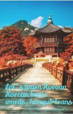 Korean basic words,Hangul+Trans by Strings_henry22