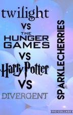 Twilight Vs The Hunger Games Vs Harry Potter Vs Divergent by SparkleCherries