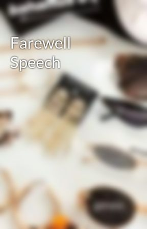 farewell speech to seniors examples