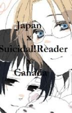 Japan x Suicidal!Reader x Canada by VanilliaBeanKitty
