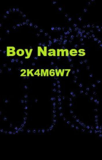 Ideas For Boy Names