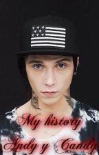 """""""My History""""-Andy Biersack y Candy Black(tu)- by Vero-Black"""