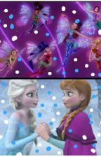 Winx club and Frozen(discontinue) by AliveaMoonlight