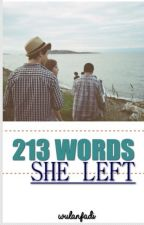 213 Words She Left by wulanfadi