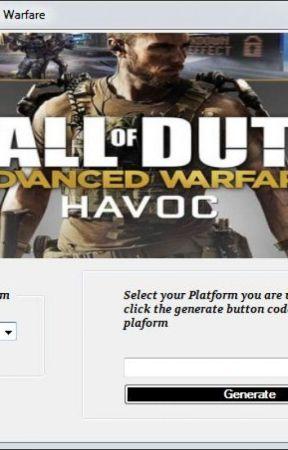 advanced warfare code generator keygen