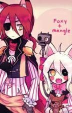 foxy x manggle amor de secundaria by _cookie-85_