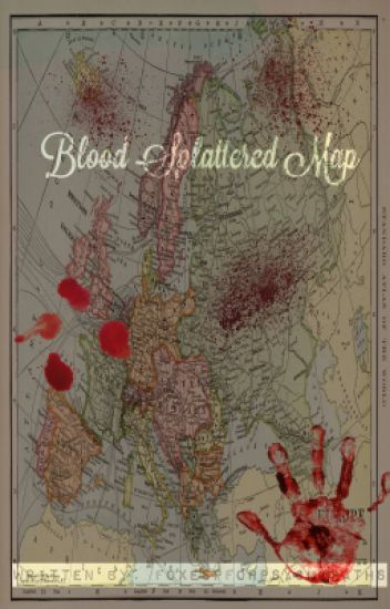 Blood splattered map