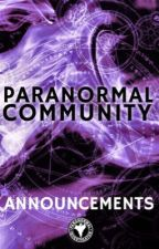 Announcements by ParanormalCommunity