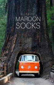Maroon Socks by astrovevo