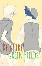 Red Fire, Green Fields by Ink_Life