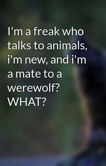 I'm a freak who talks to animals, i'm new, and i'm a mate to a werewolf? WHAT?