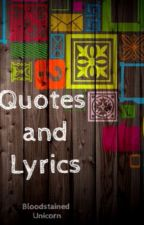Quotes and lyrics by DelyaCsiki