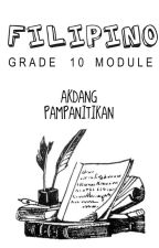 Grade 10 Filipino Module by fckdmpd