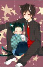 Neko Mikado and wolf Izaya by dragonblossom