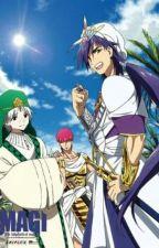 Magi: Sinbad x child x Ja'far by LunaMonsune
