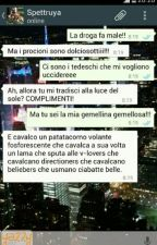 #ladrogafamale // chat tra due rincoglionite totali by Ash_is_my_penguin_