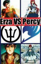 Erza vs. Percy! by mrosesouth