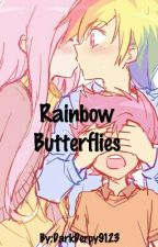 Rainbow Butterflies by NattilieNotes9123