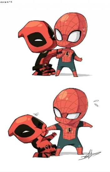 Spideypool - tacos and texting