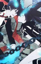 Rin Okumura and Black Rock Shooter by Vanilla0Addict