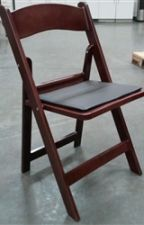 Folding Chairs Tables Larry Hoffman -  Resin Mahogany Folding Chair by foldingtablesca