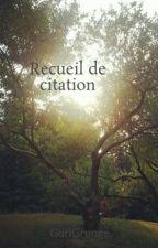 Recueil de citation by sherlockedaugther