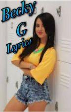 Becky G lyrics by Garcia75