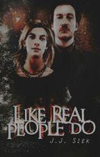 Like real people do - Remus Lupin & Nimfadora Tonks by xjdzxx