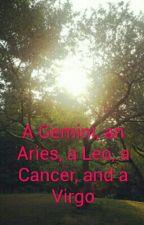 A Gemini, an Aries, a Leo, a Cancer, and a Virgo by MusicWolf13