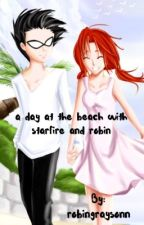 a day at the beach with robin and starfire by therobingrayson
