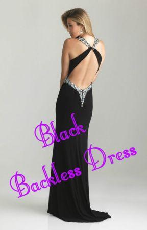 Black Backless Dress by PFid_Esrt