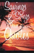 Sayings & Quotes by Madi_Burris