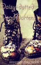 Daisy-dotted Doc Martens by myemergencyexit