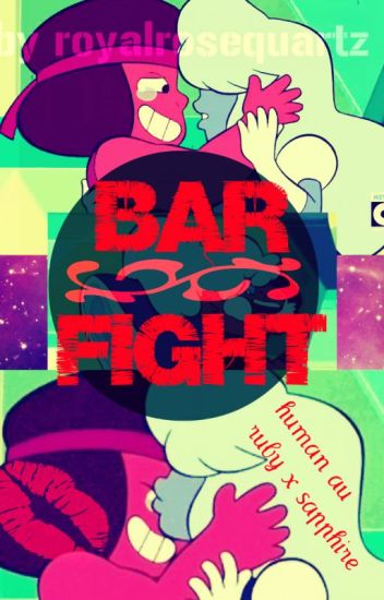 Bar Fight [Human Rubapphire AU]