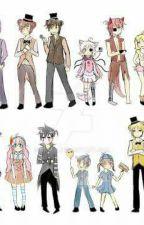 4 Animatronicos enamorados de una animatronica (freddy,foxy,golden y bonnie x tn by Ryokuryuu-Juliet