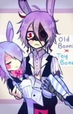 """BonbonxBonnie """"Enamorada de mi secuestrador y acosador""""[[HumanxFnaf]] by Vale_Monshecat"""