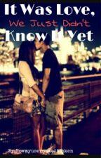 It Was Love, We Just Didn't Know It Yet by nowmyusernameistaken